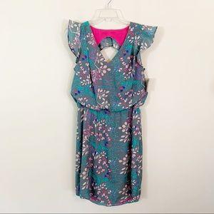 Jessica Simpson • Floral Cap Sleeve Dress Size 8
